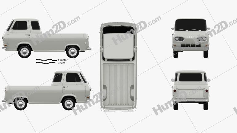 Ford E Series Econoline Pickup 1963 Clipart Clip Art Ford E Series Pick Up