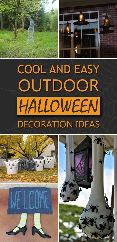 Cool And Easy DIY Outdoor Halloween Decoration Ideas | Diy outdoor ...