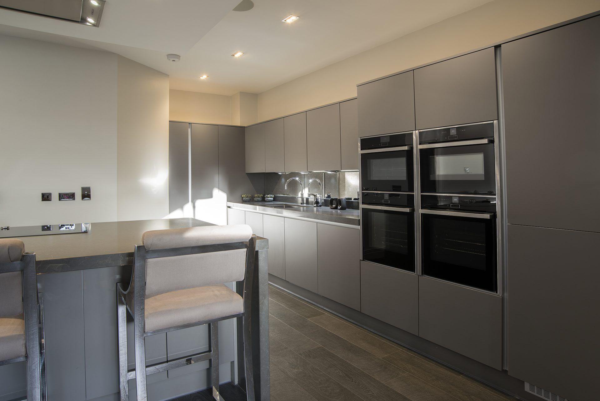 Best Dark Grey Super Matt Kitchen Handless Kitchen Matt Kitchen 400 x 300