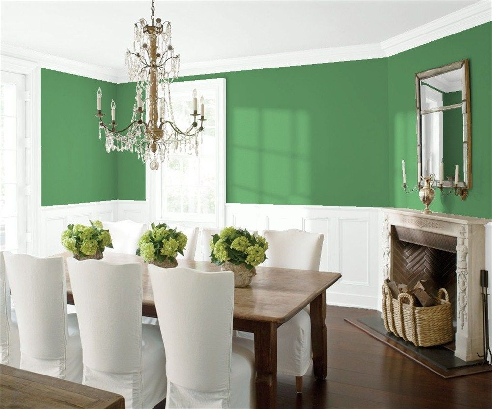 green dining room colors. 566 Bunker Hill Green Dining Room 2 | Benjamin Moore Colors