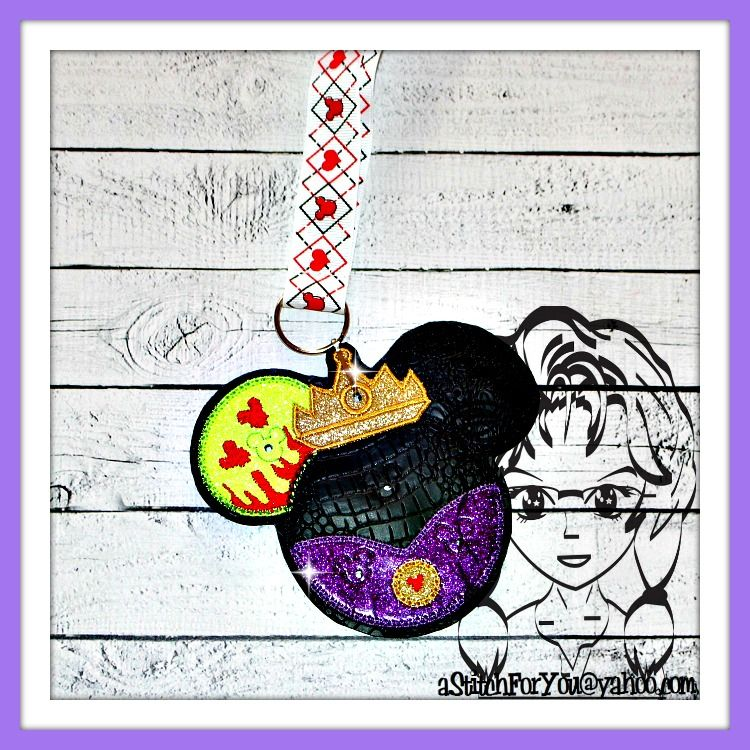 Evil Queen to Apple Princess ~ Pin Lanyard Display Mouse HeaD Trader ~ ITH Mr Miss Mouse Inspired Photo Prop ~ INSTANT Download Design by Carrie aStitchForYou on FB & Etsy