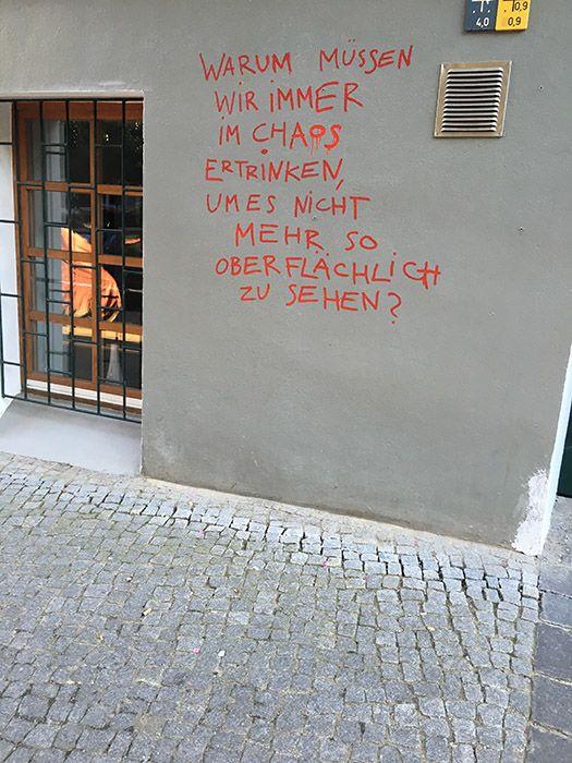 Berliner Sprüche Hauswände | Straßenkunst | Quotes, Street quotes