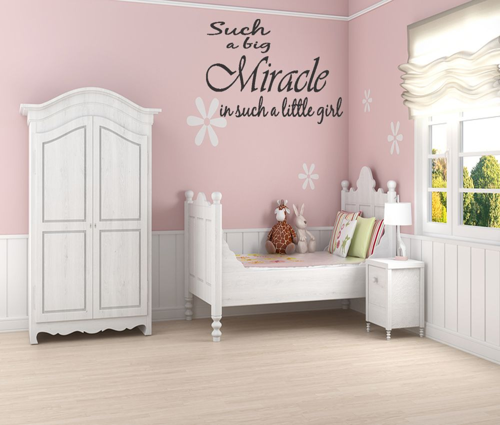 Best Toddler Girl Room Wall Decor Miracle Little Girl Wall 400 x 300
