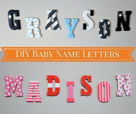 Name On Nursery Wall For Baby Boy Diy