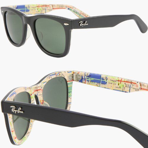 0cfe971942 The new range of Ray Ban 'Rare Prints' sunglasses features this exclusive  model with a visible map of the New York Metro system. Using the classic  Wayfarer ...