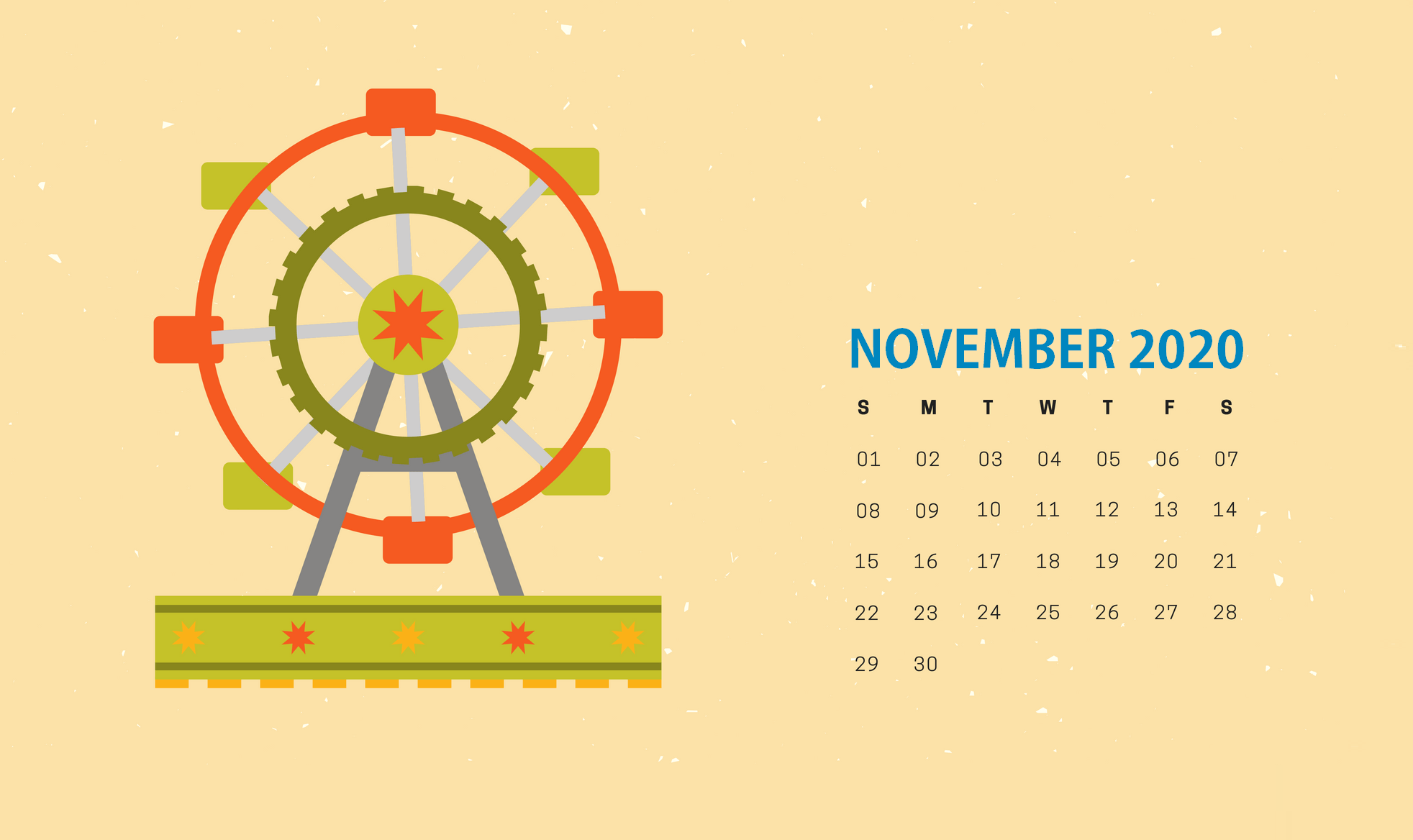Cute November 2020 Calendar Wallpaper in 2020 | Calendar ...