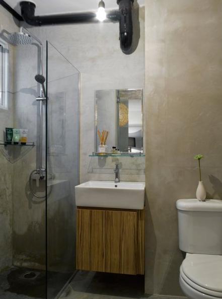 Marine terrace for Bathroom interior design singapore