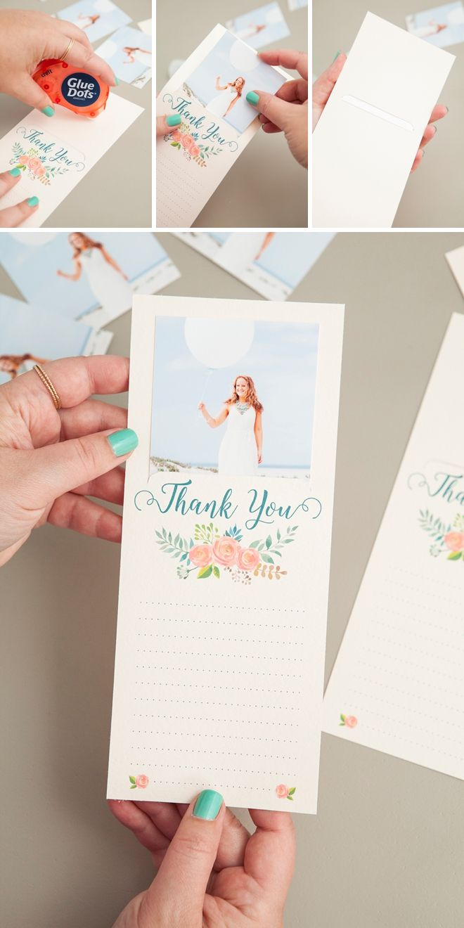 Make These Darling Free Printable Photo Thank You Cards Wedding