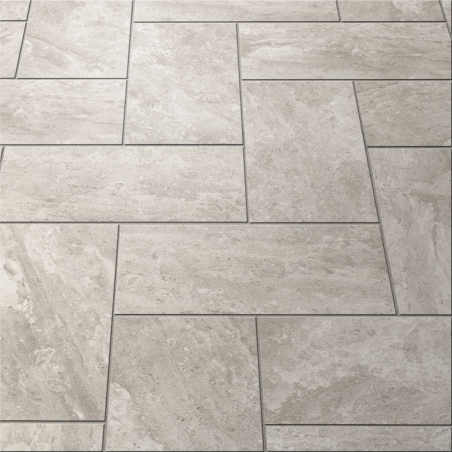 Style Selections Trailden Gray Ceramic Indoor Outdoor Floor Tile Common 12 In X 24 Actual 11 75 23 52 At Lowes