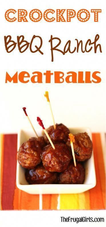 Crockpot BBQ Ranch Meatballs Recipe! {3 Ingredients} - The Frugal Girls