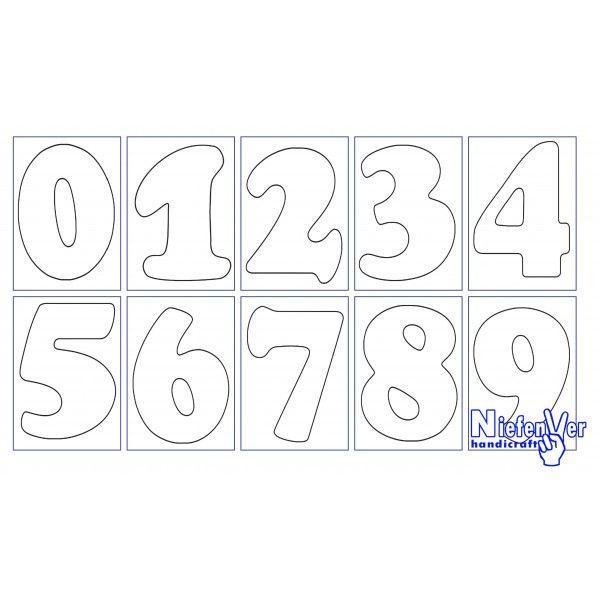 Plantillas de números para imprimir - Imagui | Para colorear ...