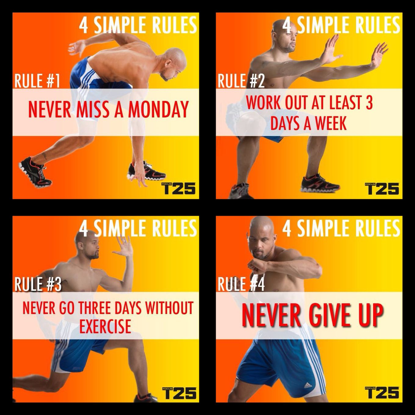 Insanity Workout T25: Shaun T's 4 Simple Rules For Working Out.