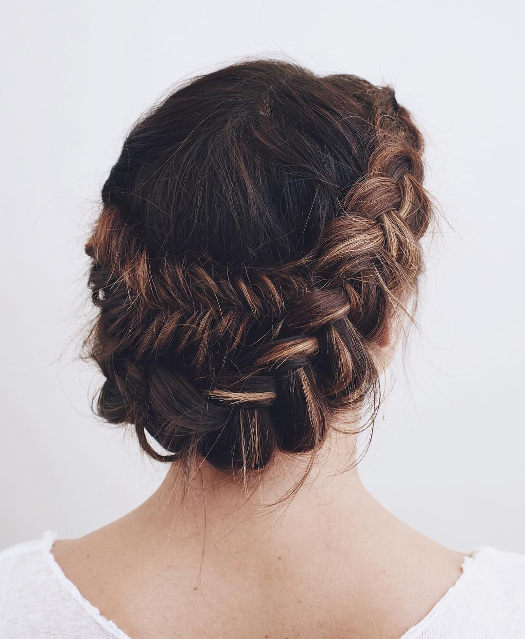 When you can't decide which braid? Fishtail braids Dutch crown braids