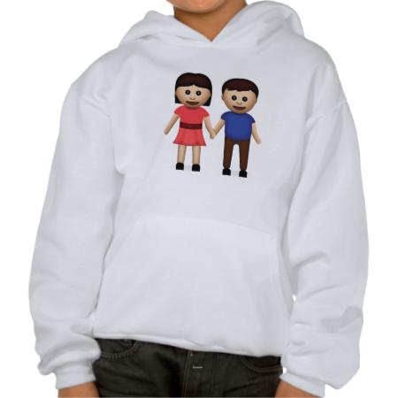 Man And Woman Holding Hands Emoji Hoodie
