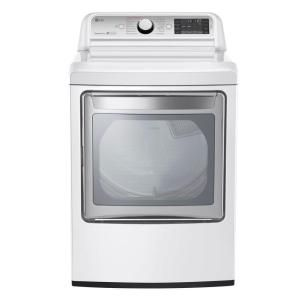 Lg Electronics 7 3 Cu Ft Electric Dryer With Turbo Steam In White Dlex7600we The Home Depot Electric Dryers Gas Dryer Laundry Room Storage