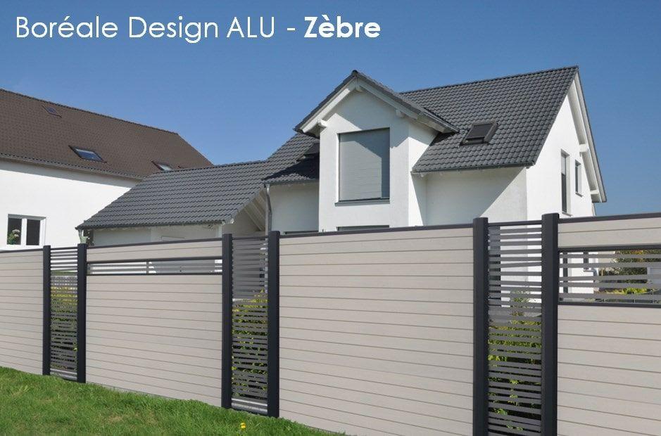 lame deco pour cloture composite en aluminium boreale design zebre cl tures d coratives. Black Bedroom Furniture Sets. Home Design Ideas