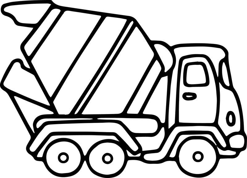 Cement Truck Coloring Page See The Category To Find More Printable