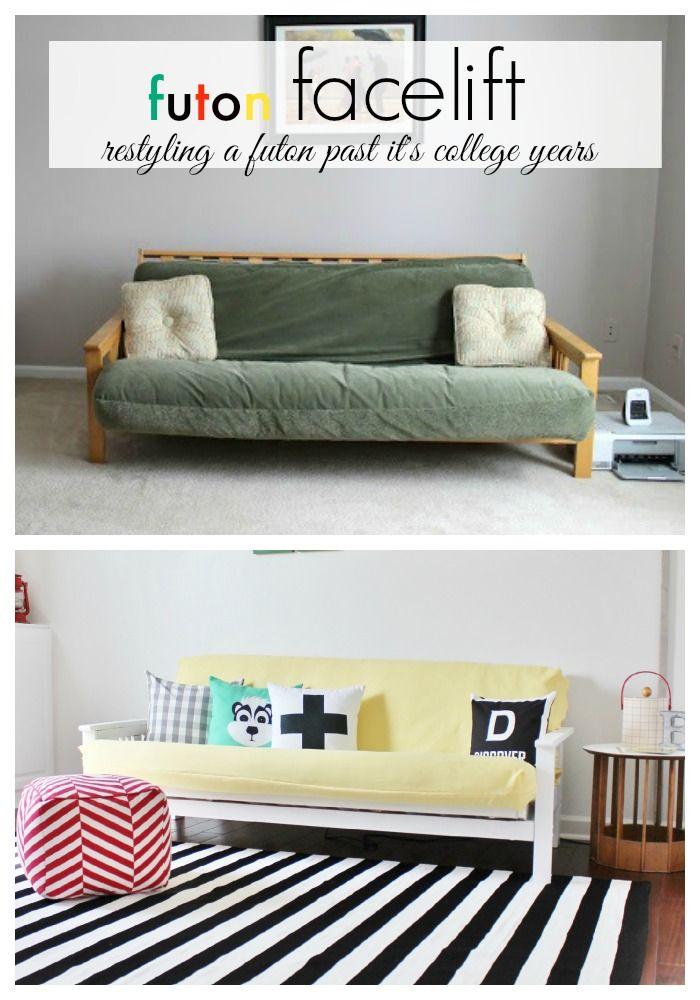 Futon Facelift Restyling A Futon For Your Grown Up House Diy Futon Futon Living Room Futon Mattress
