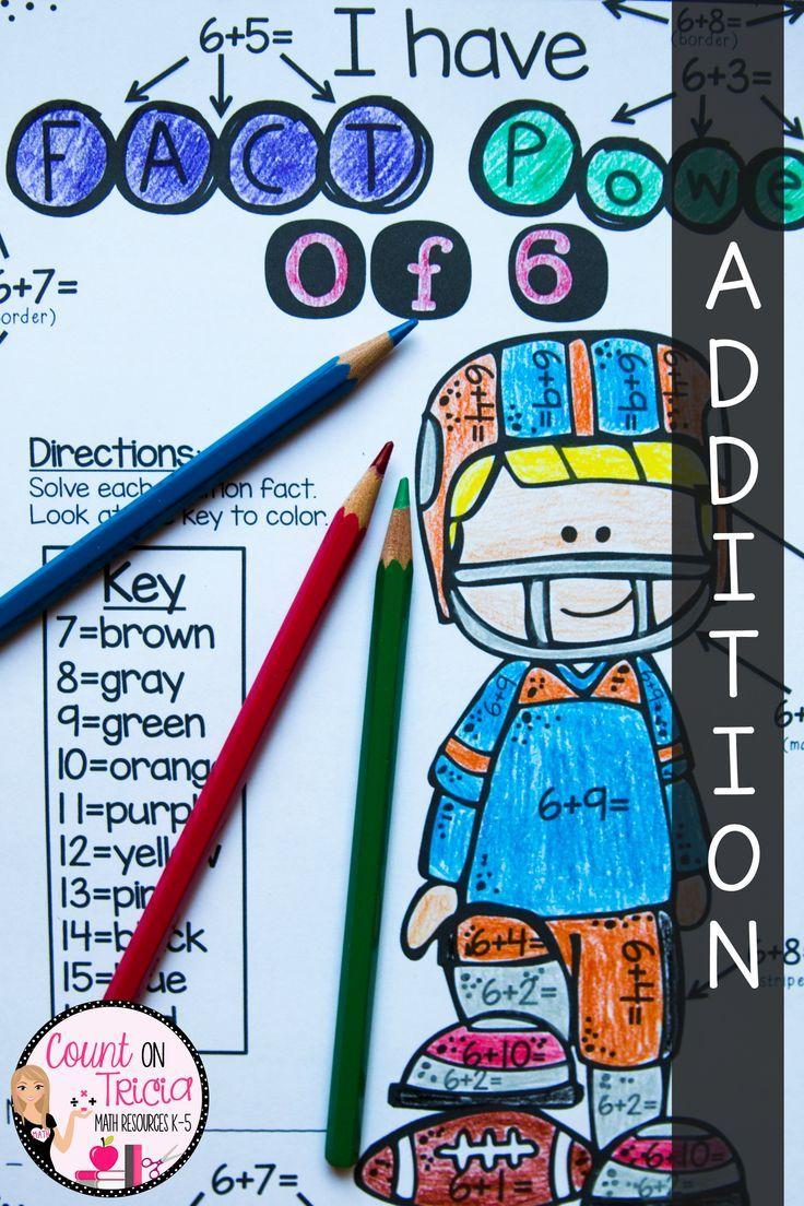 Addition Worksheets Color by Number | 2nd Grade Math | Pinterest ...
