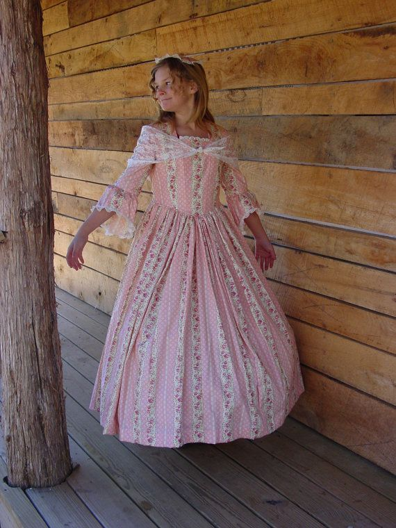 Ships Today - Colonial, Pioneer Dress & Mob Cap -- Girls Sz 8 - 10 ...