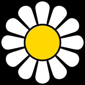 Vector Clip Art Online Royalty Free Public Domain Flower Template Daisy Clip Art