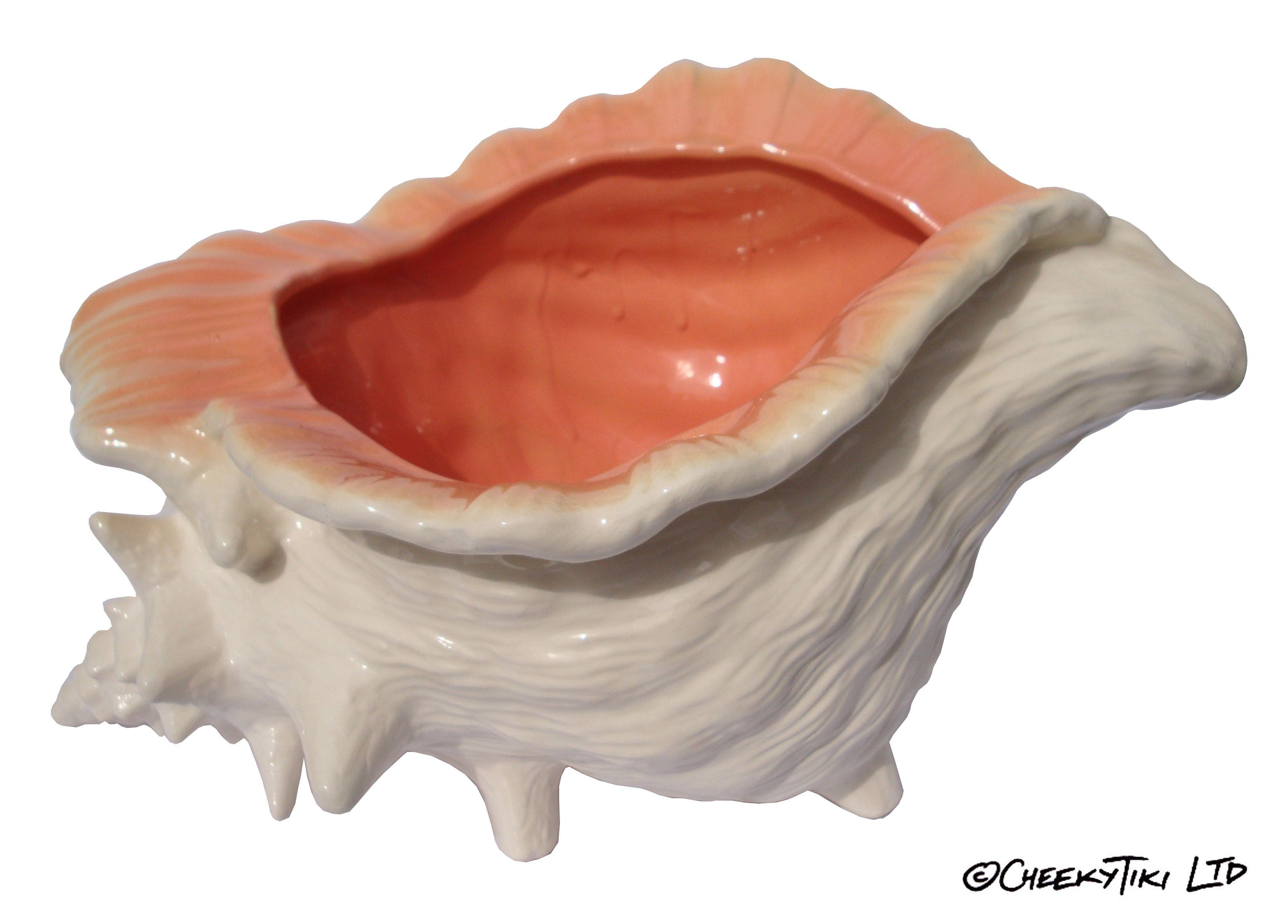 Conch Shell 4 Person Cocktail Sharer Tiki Mugs Jugs Glassware Pinterest