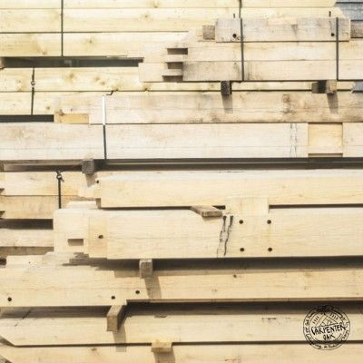Hand Cut Timber Stacks in a Banded Pack at The Carpenter Oak Ltd ...