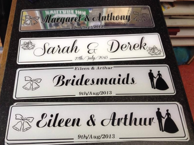 Wedding Invitations Galway: Just Married Black Wedding Number Plates