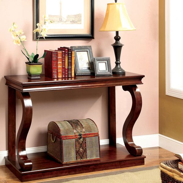 Overstock Foyer Furniture : Furniture of america prozy classic cherry console table