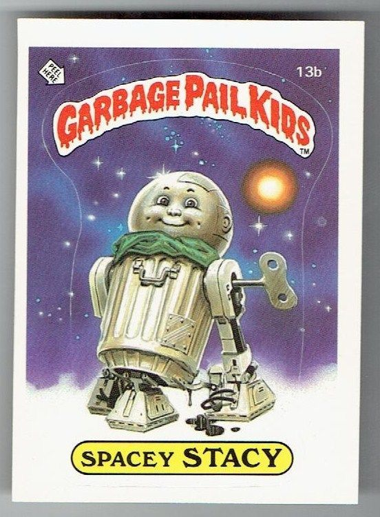 Garbage Pail Kids 1st Series Stacey Spacy 13b Usa Matte Nm M Matte Garbage Pail Kids Garbage Pail Kids Cards Kids Cards