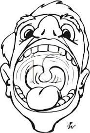 Transparent Mouth And Tongue Clipart Black And White - Mouth With Tongue  Sticking Out Drawing , Free Transparent Clipart - ClipartKey