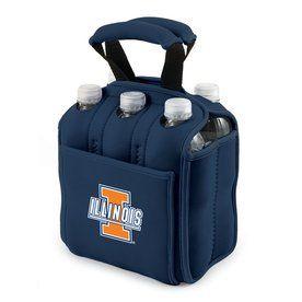 Picnic Time 120-Fl Oz Illinois Fighting Illini Neoprene Bag Cooler 608