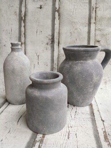 Betere Flessen, vazen, bloempotten met betonlook kan je alle kanten op LP-28