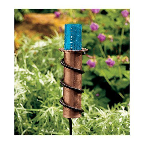 "5"" Capacity Floating Rain Gauge With Copper Base And Spiral Yard Stake, 2015 Amazon Top Rated Rain Gauges #Lawn&Patio"
