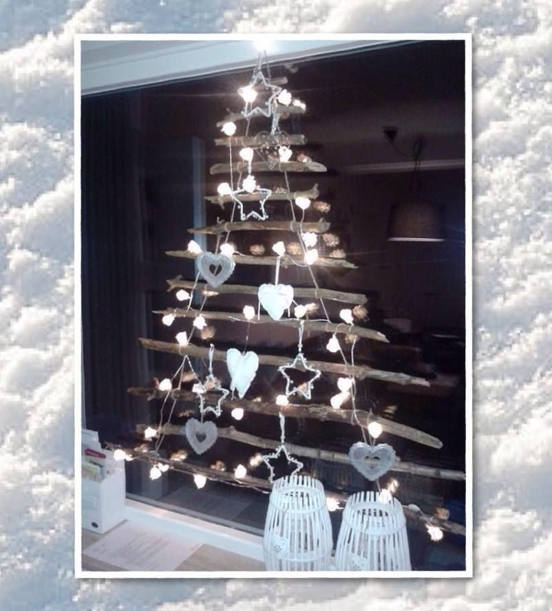 raamdecoratie voor de kerst leuke boom door simpel wat