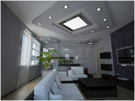 Sophisticated home ceiling lighting ideas contemporary simple custom led stripes lighting design get latest design ideas aloadofball Images