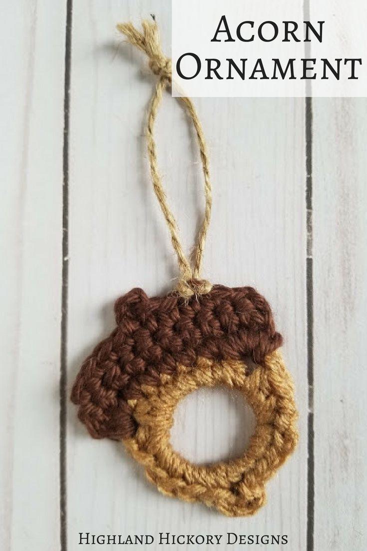 Upcycled Acorns - Highland Hickory Designs - Free Crochet Pattern ...