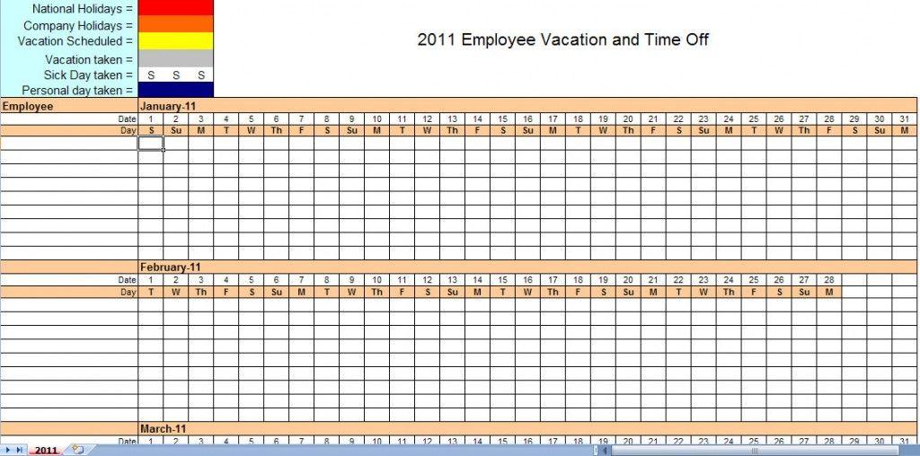 work calendar templates