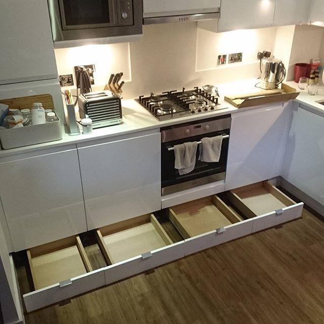 Cajones bajo muebles cocina | Cocina en 2018 | Pinterest | Kitchen ...
