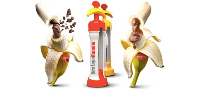 A Magical Machine Lets You Inject Bananas With Sweet Sweet Fillings. Dear lord can i have this please??