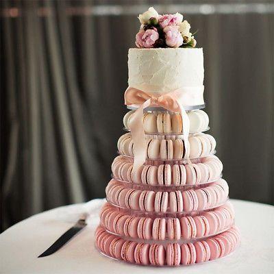 6 Tiers Round Macaron Tower Cake Stand Macaron Display Rack for Wedding Birthday | eBay