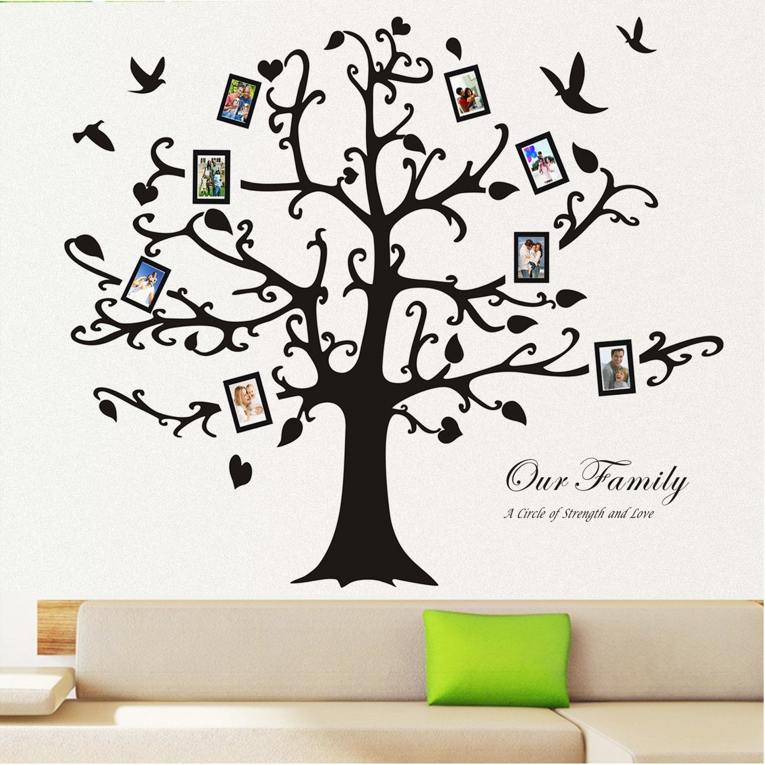 Homecube 100 X 100 Huge Xxxl Black Photo Picture Frame Tree Wall Decal Removable Sticker Decorative Supplies Vinyl Tree Wall Decal Vinyl Art Decorating Blogs