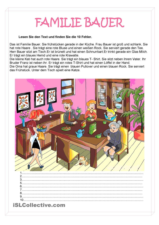 familie personenbeschreibung alpha deutsch unterricht deutsch lesen und deutsch lernen. Black Bedroom Furniture Sets. Home Design Ideas
