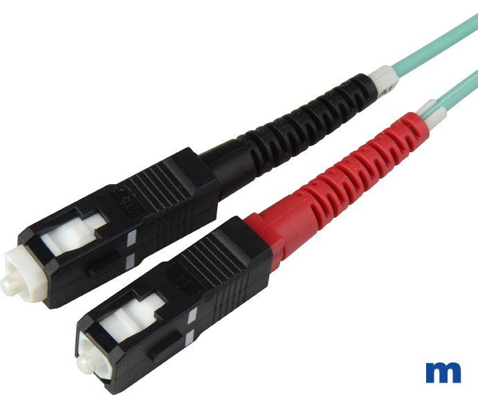 Om3 50125u 10 gig aqua multimode duplex sc to sc fiber optic cable sciox Images
