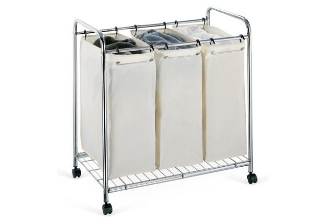 """3-Section Laundry Sorter 30""""W x 19""""D x 31.5""""H"""