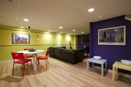 Some Great Ideas For Selecting The Best Basement Paint Colors Basement Colors Basement Paint Colors Contemporary Family Room