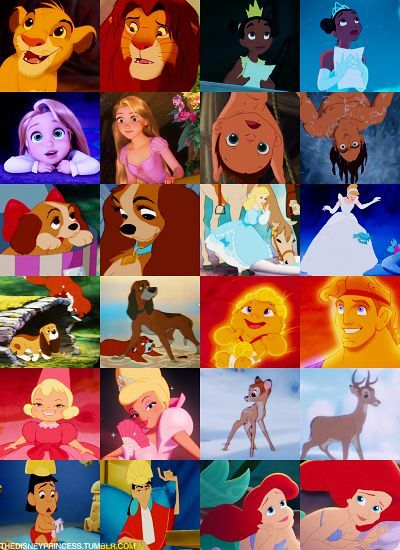 Disney Characters As Their Young And Old Selves Disney