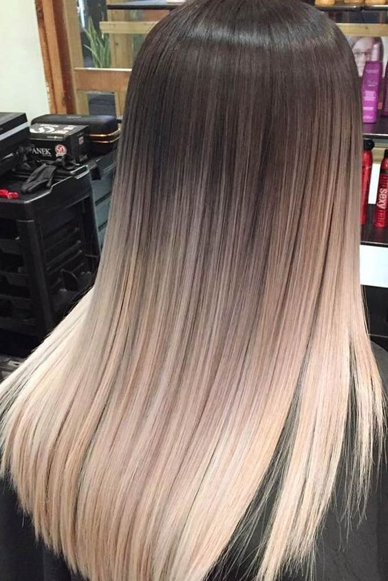 Ombre Hair Is Still One Of The Hottest Trends From Blonde Ombre Style To Black Silver Or Even Ash Tones Ombre Hair Blonde Hair Color Dark Hair Color Balayage