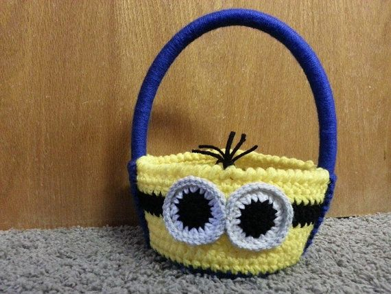 Crochet Pegman Multi Purpose Basket Halloween Easter Room Decor ...