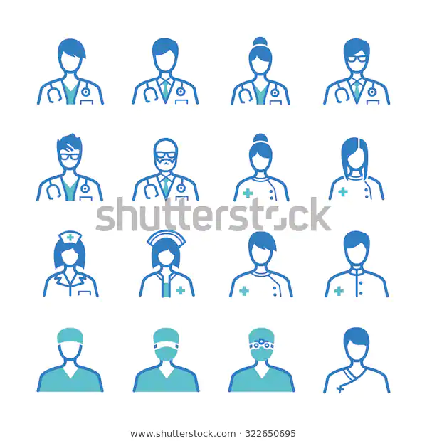 Medical Staff Icon Set Included Icons Stock Vector Royalty Free 322650695 Icon Set Stock Images Free Medical
